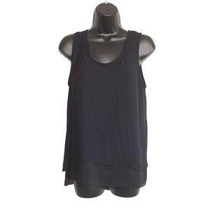 Large Black Sleeveless Blouse